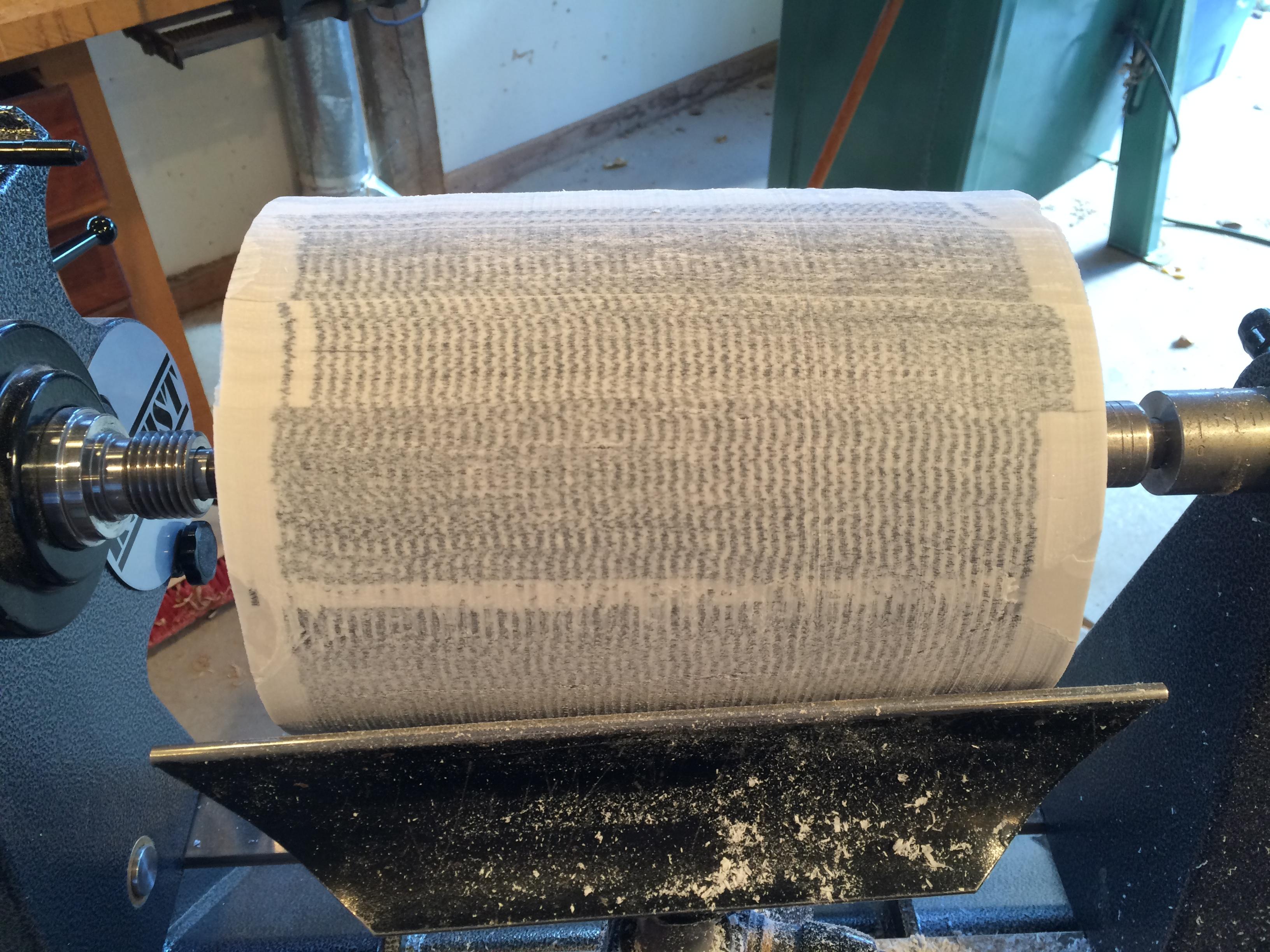 glued book blank